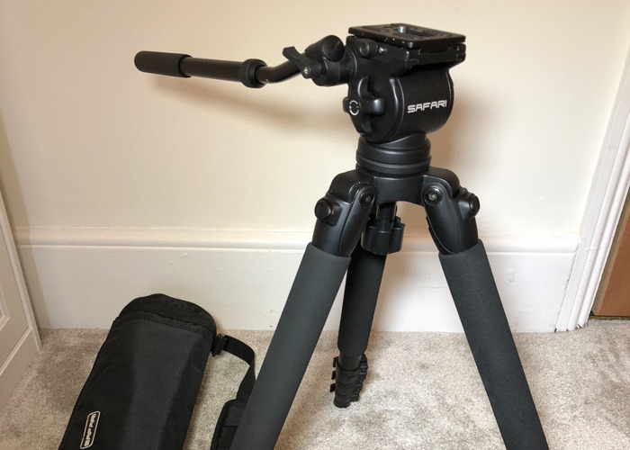 Miller Safari Camera Tripod R1100 - Lightweight Carbon Fibre - 1