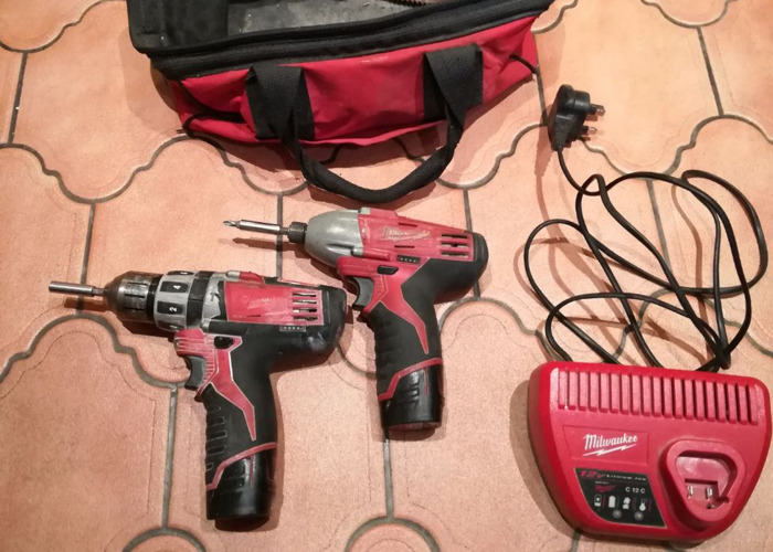Milwaukee 12v Impact and Drill Drivers.  - 2