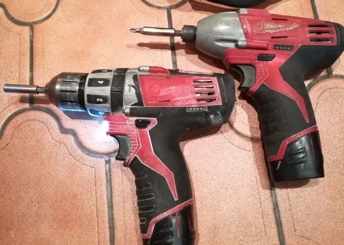 Milwaukee 12v Impact and Drill Drivers.  - 1