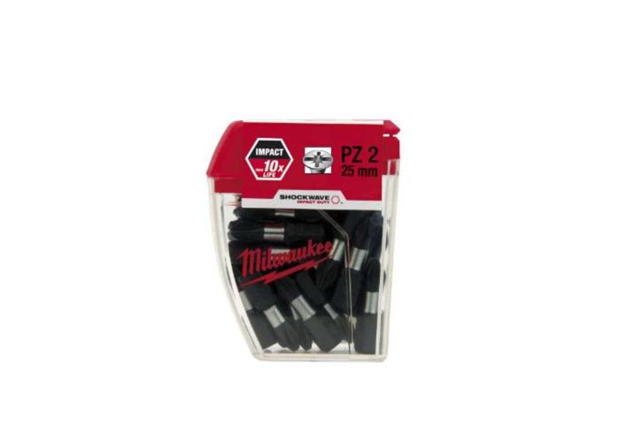 Square Screwdriver Impact Bit R2 High Torque Premium S2 Steel Drill Drivers 25pk