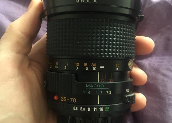 Minolta 35-70 f/3.5 macro lens - 1