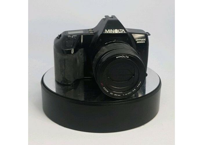 Minolta Dynax 3000i 35mm SLR Film Camera Bundle Lens TESTED #620 - 1