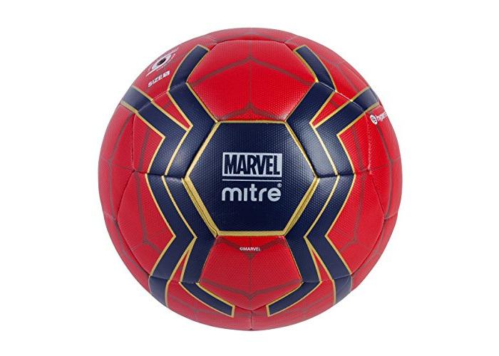Mitre Kids' Spiderman Match Football, Red/Blue, 5 - 1