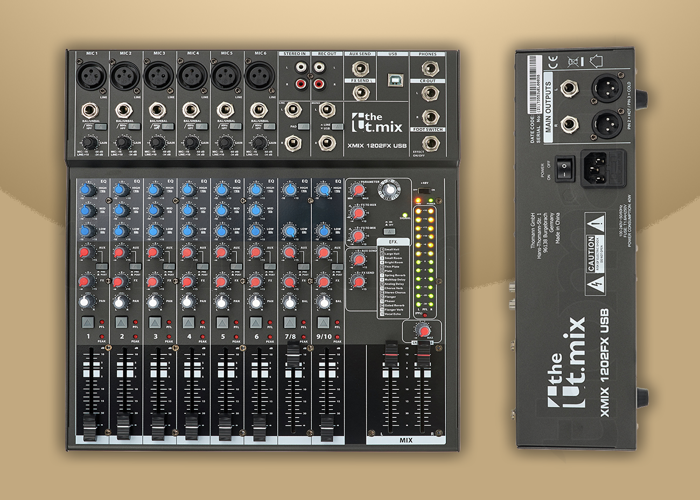 Mixer (12 Channels) - The t.mix xmix 1202 FX USB - 1