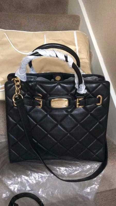 MK Black New Quilted Ladies Bag - 1