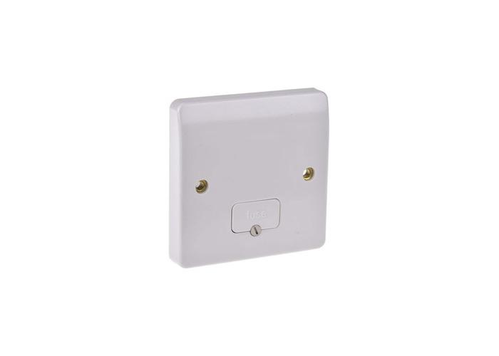 MK Logic Plus 13A Un-Switched Fused Connection Unit, White - 1