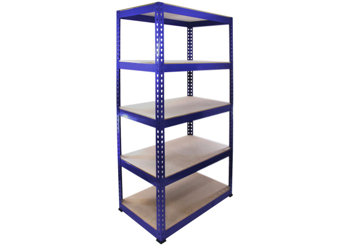 Monster Racking Q-Rax Steel Storage Shelving Bays (Blue) | 900mm x 500mm x 1825mm (w x d x h) - 1