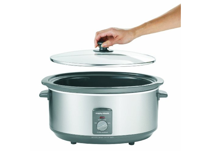 Morphy Richards 48718A - 6.5L Silver Slowcooker - 2