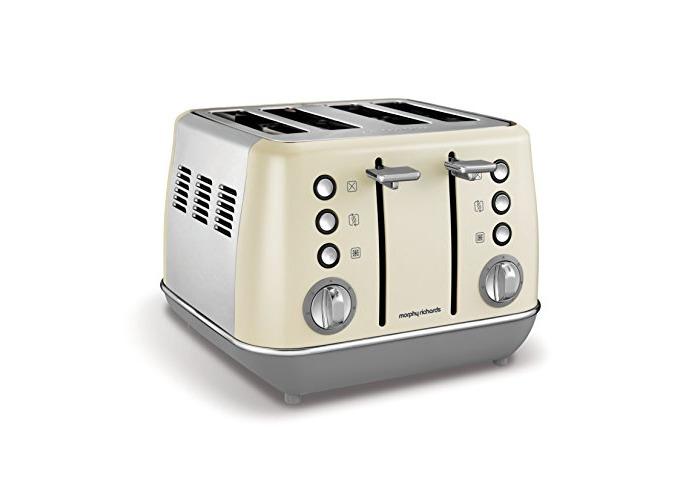 Morphy Richards Evoke 4 Slice Toaster 240107 Cream Four Slice Toaster Cream Toaster - 1
