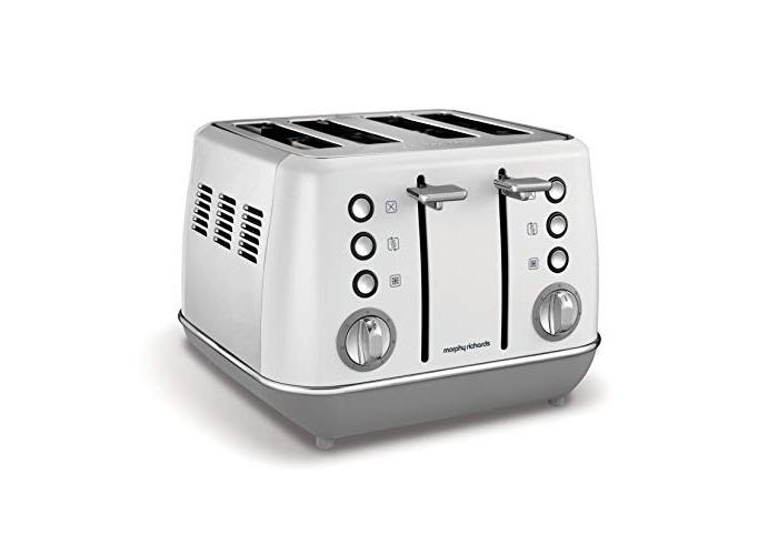 Morphy Richards Evoke 4 Slice Toaster 240109 White Four Slice Toaster White Toaster - 1