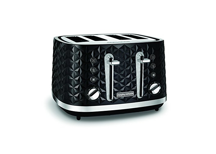 Morphy Richards Vector 4 Slice Toaster 248131 Black Four Slice Toaster Black Toaster - 1