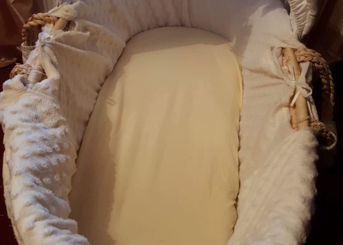Moses basket good condition  - 1
