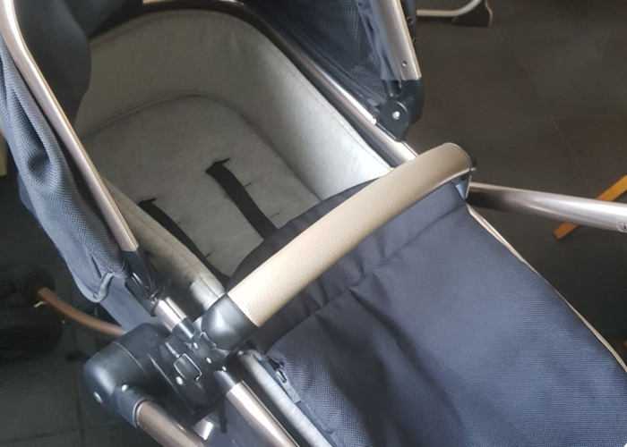 Mothercare Gold and Liquorice orb pram - 2