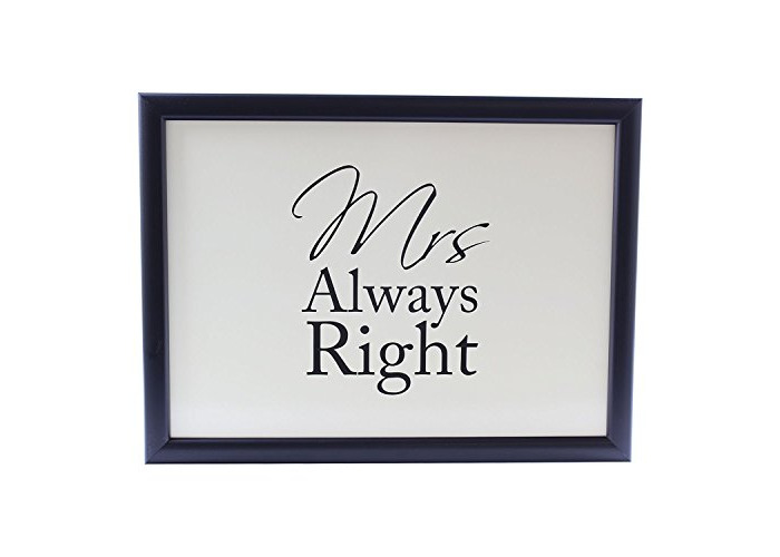 Mrs Always Right Padded Laptray Bean Bag Cushioned Lap Tray Gift For Her - 1