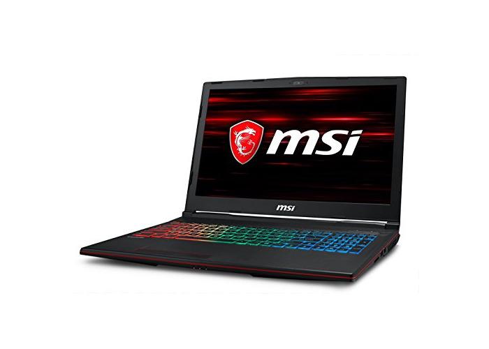 MSI GP63 Leopard 8RE-065UK 15.6-Inch Gaming Laptop - (Black) (Intel i7 8750H, 16 GB RAM, 1 TB HDD Plus 128 GB SSD, NVIDIA GeForce GTX 1060 Graphics, Windows 10 Home) - 1