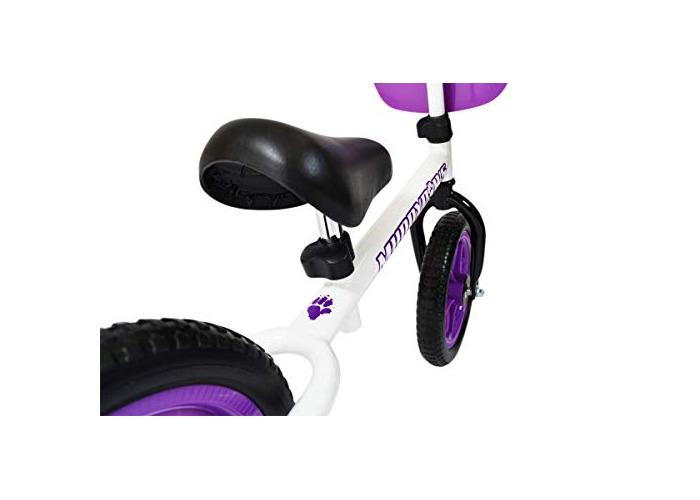 Muddypaws Girl Balance Kid's Bike, Purple/White, 12-Inch - 2