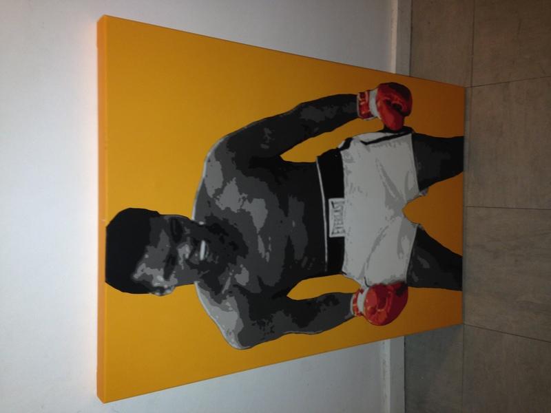 Muhammad Ali Iconic Orange Boxing Canvas Print - 1