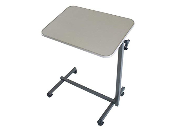 Multi Purpose Over Bed Table Foldable Height Adjustable Portable Mobility Aid - 1