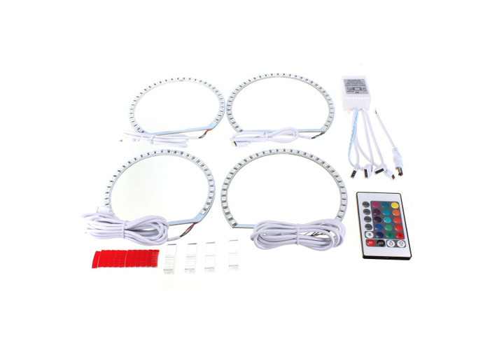 Multi-Color RGB LED Flash Strobe Light Angel Eye Rings for BMW E46 3 5 7 Series - 2