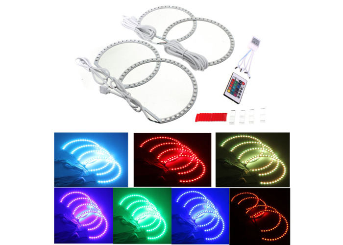 Multi-Color RGB LED Flash Strobe Light Angel Eye Rings for BMW E46 3 5 7 Series - 1