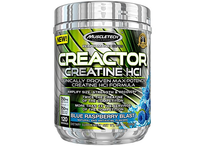 Muscletech Creactor Sports Supplement, Blue Raspberry Blast - 1