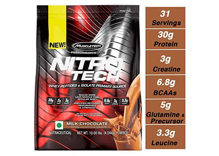 Muscletech Performance Series Nitro-Tech Supplement, 10 lbs, Milk Chocolate - 1