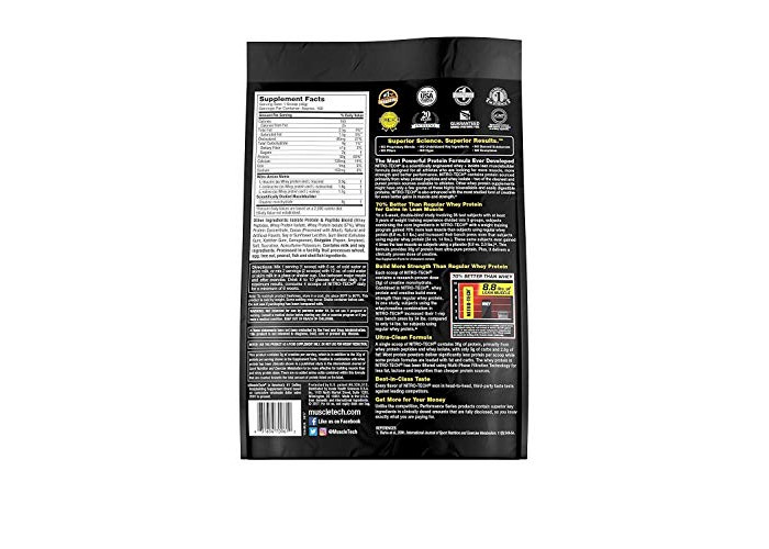 Muscletech Performance Series Nitro-Tech Supplement, 10 lbs, Milk Chocolate - 2