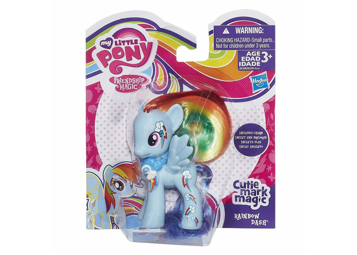 My Little Pony Cutie Mark Magic Includes Charm brush-able Hair Rainbow Dash - 2