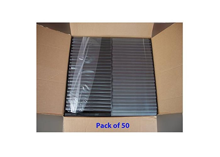 NABER Triple DVD Cases Multiple DVD case 14mm - Black Pack of 5. Pack of 10. Pack of 20, Pack of 50, Pack of 100 (pack of 10) - 2