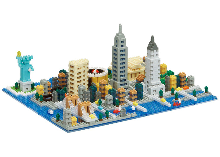 nanoblock NB033 New York Scene Toy, Multi-Colour - 2