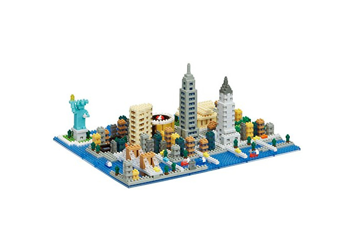 nanoblock NB033 New York Scene Toy, Multi-Colour - 1