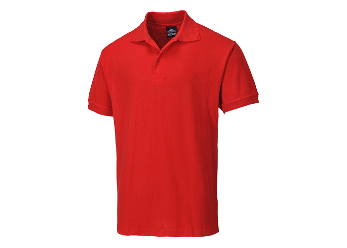 Naples Polo Shirt  Red  Medium  R - 1