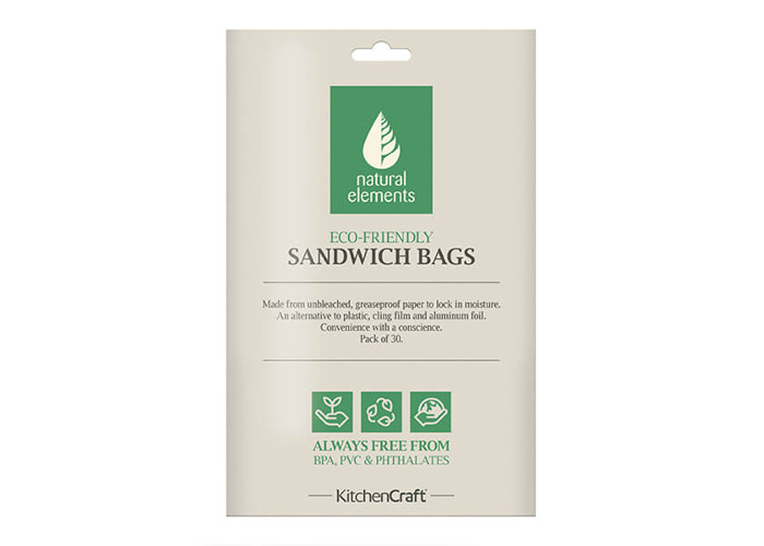 Natural Elements Pack of 30 Sandwich And Snack Bags - 1
