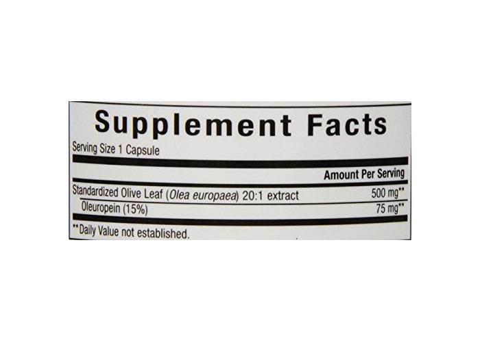 Natural Factors Herbal Factors Olive Leaf 15% Oleuropein (500mg, 90 Capsules) - 2