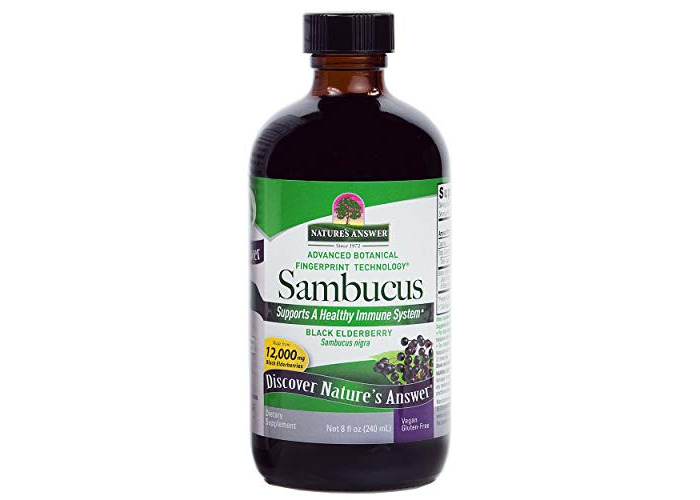 Nature's Answer Alcohol-Free Sambucus Black Elder Berry Extract, 8-Fluid Ounces - 1