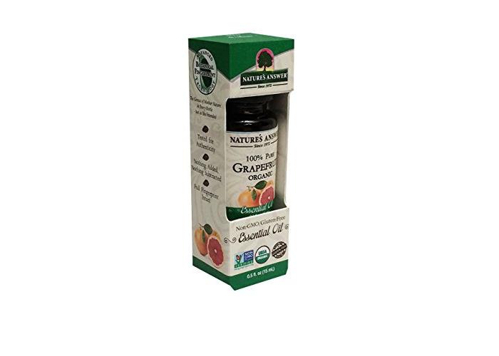 Nature's Answer Pure Organic, Grapefruit Essential Oil, 0.50 oz - 1