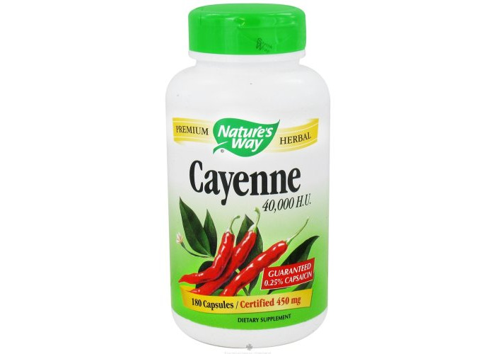 Nature'S Way Cayenne 40000 Hu - 450 Mg - 180 Capsules - 1