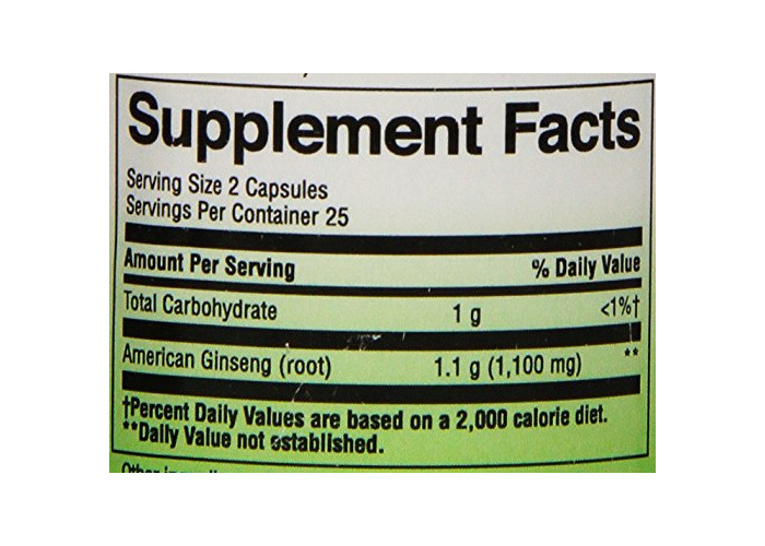 Nature's Way Ginseng, American, 50 Capsules - 2