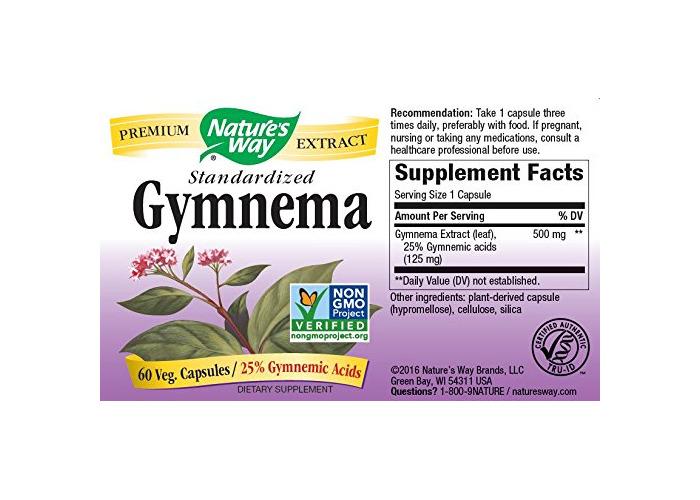 Nature's Way Gymnema Capsules, 500 mg, 60 Count - 2