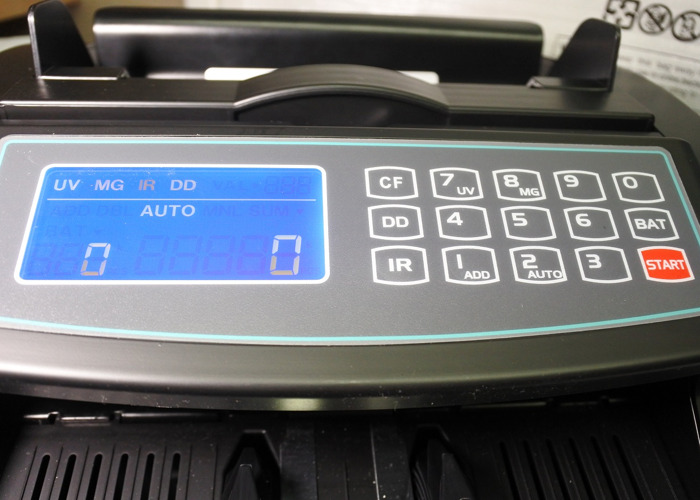 NC20i Banknote Counter & Counterfeit Detector Bill Money Cur - 1