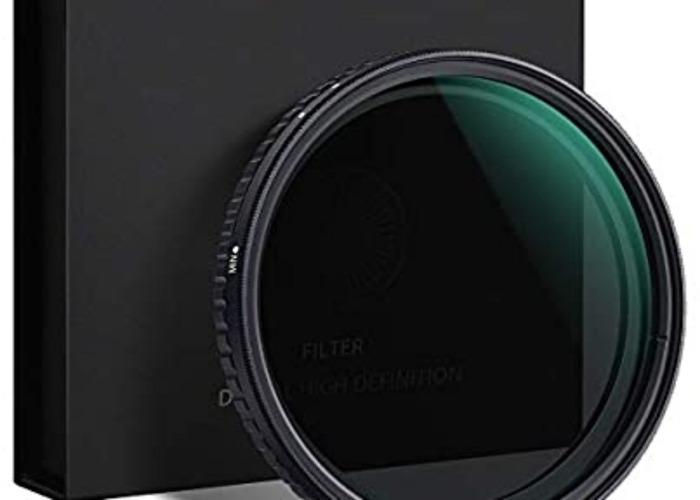 ND2-32, 82mm Filter (K&F Concept Variable ND Filter) - 1