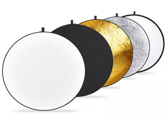 """Neewer 43"""" 110cm 5-in-1 Foldable Photo Light Reflector Panel - 1"""