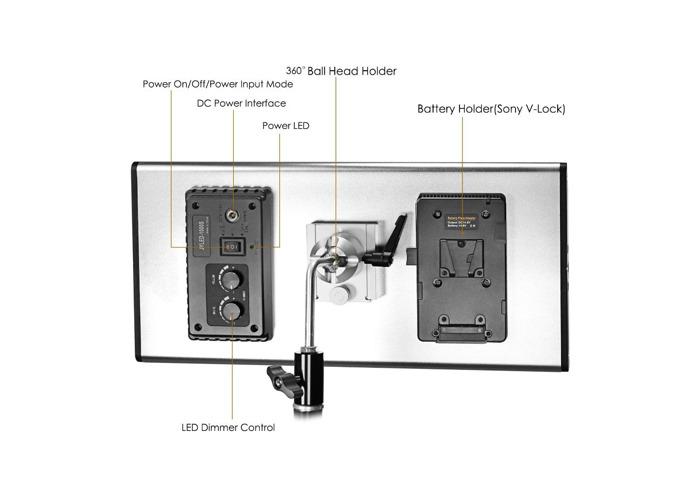 Neewer Dimmable Bi-color LED Video Light 3200-5600K, CRI 95+ - 2