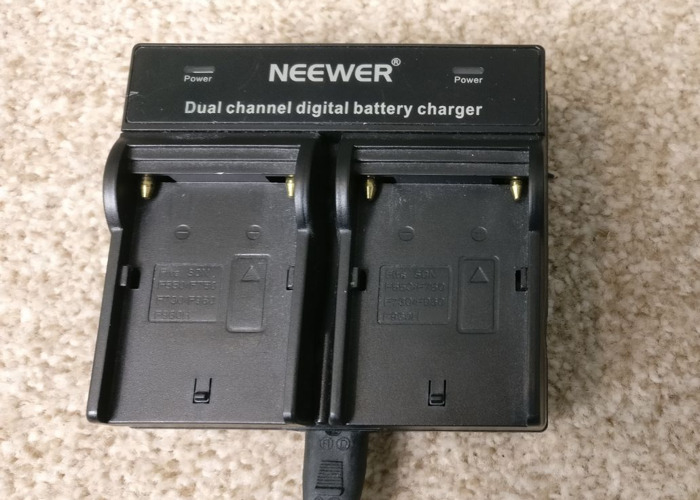 Neewer Dual Channel Battery Charger - 1