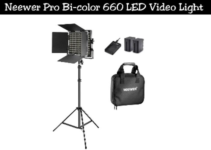 Neewer Pro Bi-color 660 LED Video Light kit - 1