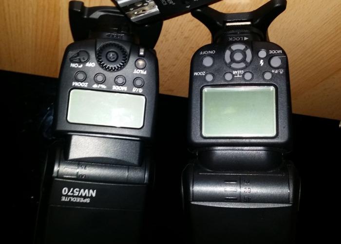 Neewer Speedlites Set of Two + Transmitter + Gels + Cases - 2