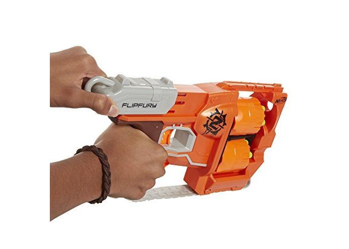 Nerf Zombie Strike FlipFury Blaster CustomerPackageType: Standard Packaging, Model: A9603, Toys & Play - 2