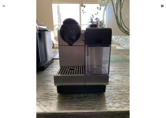 Nespresso Lattissima Silver Coffee Pod Machine