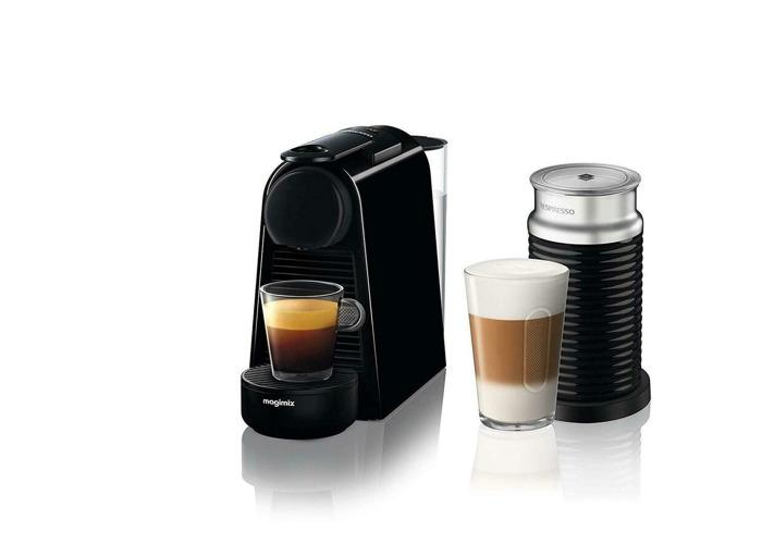Nespresso Essenza Mini Coffee Machine With Aeroccino- Pure Black By Magimix - 1