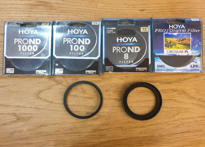 Neutral Density Filters 8 100 1000 72mm and Adapters - 1